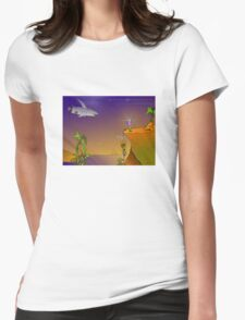 Future Scape Womens Fitted T-Shirt