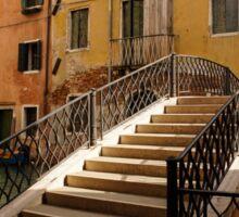 Venice, Italy - Intricate Wrought Iron Bridge Sticker