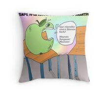 La pomme et la chaise vide Throw Pillow
