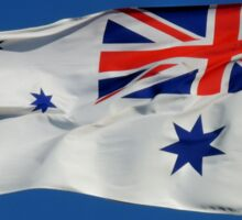 Naval Flag, Bradleys Head, Sydney Harbour, Australia. Sticker