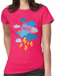 Who Makes the Thunder? - in PINK Womens Fitted T-Shirt
