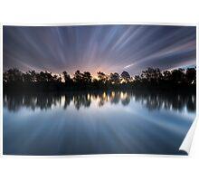"""Warp 10"" ∞ Brisbane River, QLD - Australia Poster"