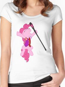 Pinkie Pie Is Dragonborn  Women's Fitted Scoop T-Shirt