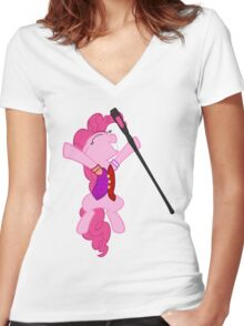 Pinkie Pie Is Dragonborn  Women's Fitted V-Neck T-Shirt