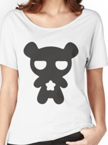 Lazy Bear B&W Women's Relaxed Fit T-Shirt