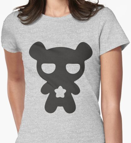 Lazy Bear B&W Womens Fitted T-Shirt