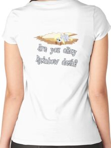 Are you ok Rainbow Dash? Women's Fitted Scoop T-Shirt