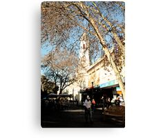 Feet Street Canvas Print