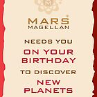 Mars Magellan New Planets Birthday Card by springwoodbooks