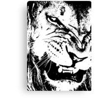 B&W Lion Canvas Print