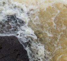 Water Over The Weir, Cataract Gorge, Launceston, Tasmania, Australia. Sticker
