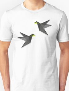 Black and White Paper Cranes Unisex T-Shirt