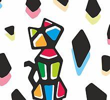 Rainbow Anigami Cat by XOOXOO