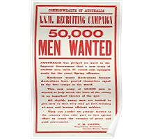 50000 men wanted Poster