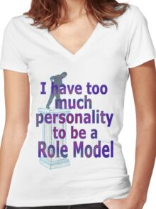 role model Women's Fitted V-Neck T-Shirt