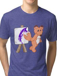 Arty Fox Tri-blend T-Shirt