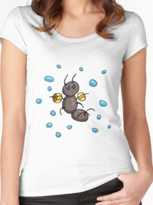 Water Wings Ant Women's Fitted Scoop T-Shirt