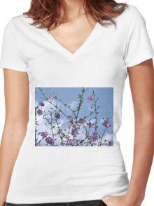 Reaching skyward Women's Fitted V-Neck T-Shirt