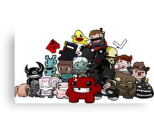 All Character Steam Super Meat boy edition Canvas Print