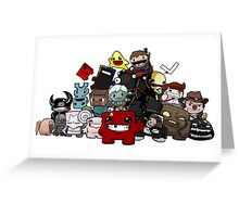All Character Steam Super Meat boy edition Greeting Card