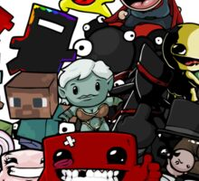 All Character Steam Super Meat boy edition Sticker