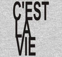 C'est la Vie Shirt Top Fashion Tee T-shirt One Piece - Short Sleeve
