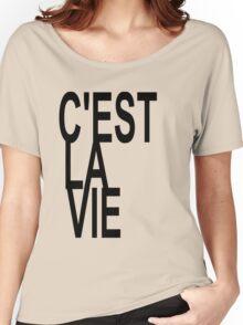 C'est la Vie Shirt Top Fashion Tee T-shirt Women's Relaxed Fit T-Shirt