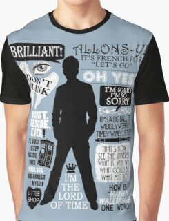Doctor Who - 10th Doctor Quotes Graphic T-Shirt