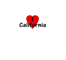 I Love California - USA T-Shirt & Decal by deanworld