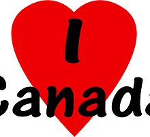 I Love Canada - T-Shirt & Sticker by deanworld