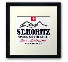 St.Moritz - Swiss Alps Framed Print