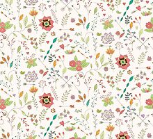 Flower pattern 01 by BlueLela