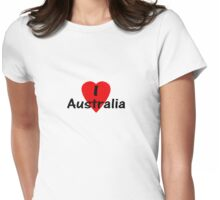 I Love Australia - T-Shirt & Sticker Womens Fitted T-Shirt