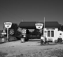 Route 66 Gas Station by Frank Romeo