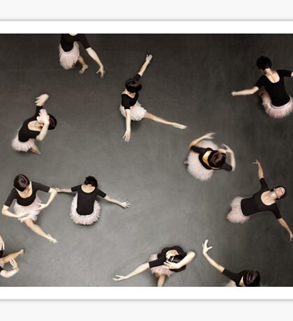 ballet from above Sticker