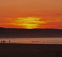 Sunset at Whitby Beach by JMChown