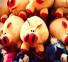 Pigged Out Iphone case by susan stone
