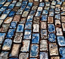 Blue Brick Road Iphone Case by susan stone