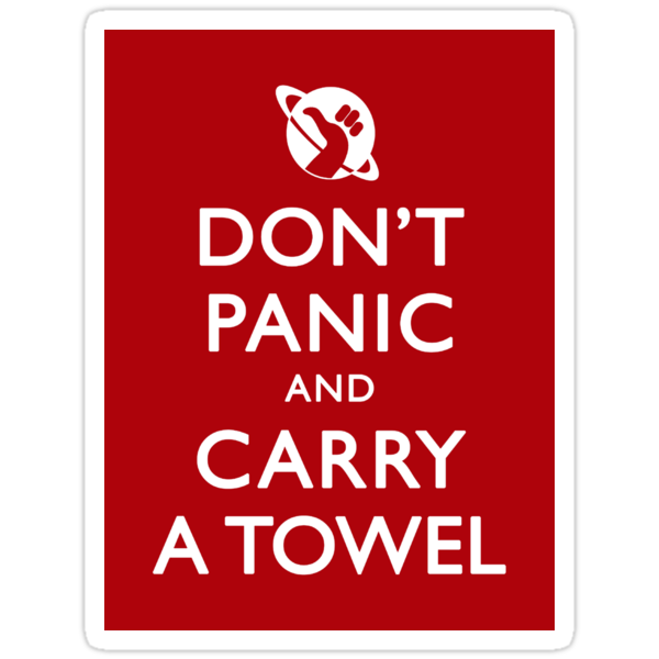 Don't Panic! Sticker by Zorava