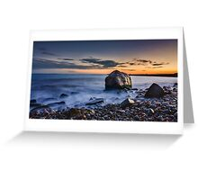 Sunset at Point Judith Greeting Card