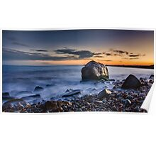 Sunset at Point Judith Poster