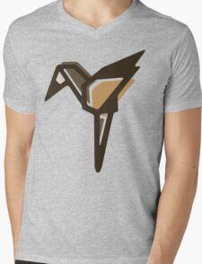 Paper Anigami Crane Mens V-Neck T-Shirt