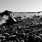 Black and White Wave Crash by John Davenport