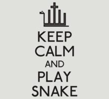 Keep calm and play snake (black) by karlangas