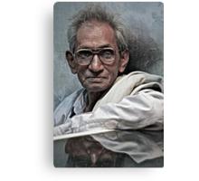 Portrait of a Man in Varanasi Canvas Print