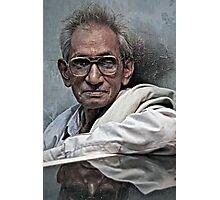 Portrait of a Man in Varanasi Photographic Print