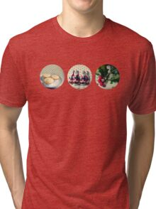 Christmas trio Tri-blend T-Shirt