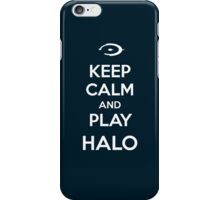 Keep calm and play Halo iPhone Case/Skin