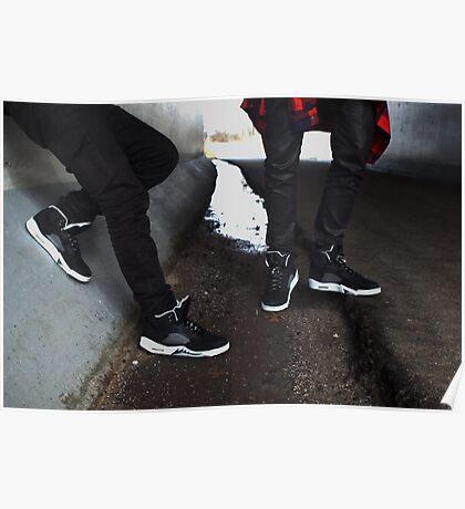 Air Jordan Oreo 5 Poster