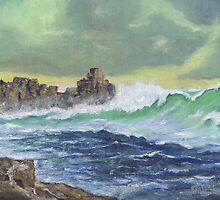 Looking towards Veryan bay Cornwall by Phil Willetts